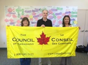 Three members of the Council of Canadians NWT Chapter at the regional meeting in Edmonton.